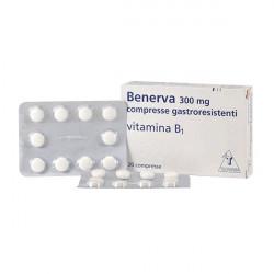 Купить Бенерва (тиамина хлорид в таблетках) 300мг №20 в Курске