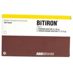 Купить Битирон, Bitiron (аналог Новотирал, Тиреотом) табл. 50 12,5мкг №100 в Курске
