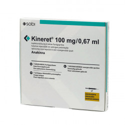 Купить Кинерет, Анакинра р-р для ин. 100 мг №7 в Курске