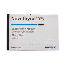 Купить Новотирал, Novothyral (аналог Тиреотома) 75 15мкг №100 в Курске
