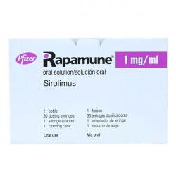 Купить Рапамун (Сиролимус) раствор для приема внутрь 1мг/мл 60мл в Курске